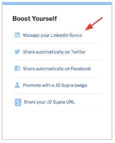 JD Supra LinkedIn Sync 4