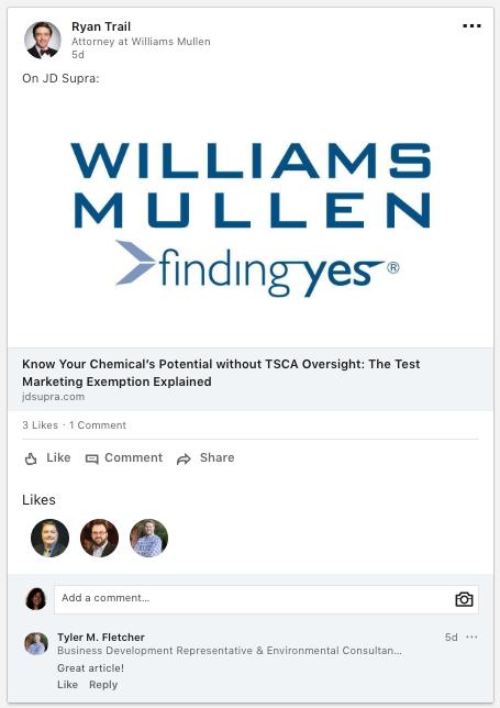 Logo on LinkedIn share